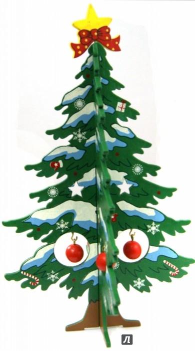 Иллюстрация 1 из 4 для Ель новогодняя из дерева, 17 см (35262) | Лабиринт - игрушки. Источник: Лабиринт