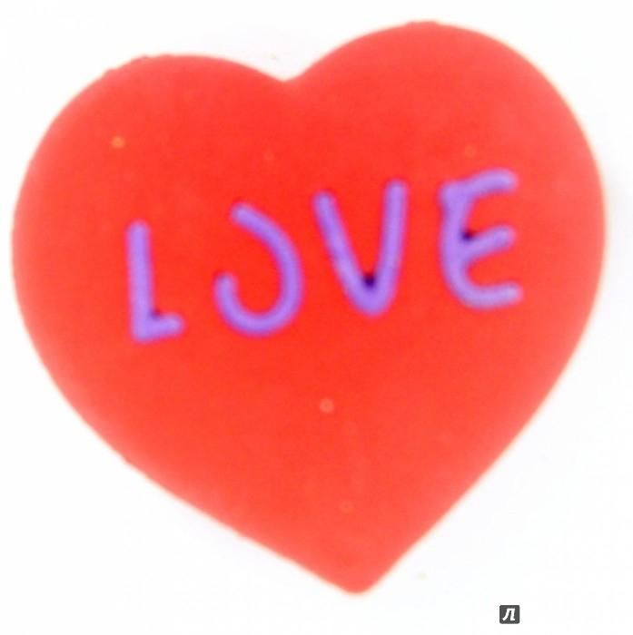 Иллюстрация 1 из 5 для Ластик из каучука EMOTIONS красное сердце (182021) | Лабиринт - канцтовы. Источник: Лабиринт