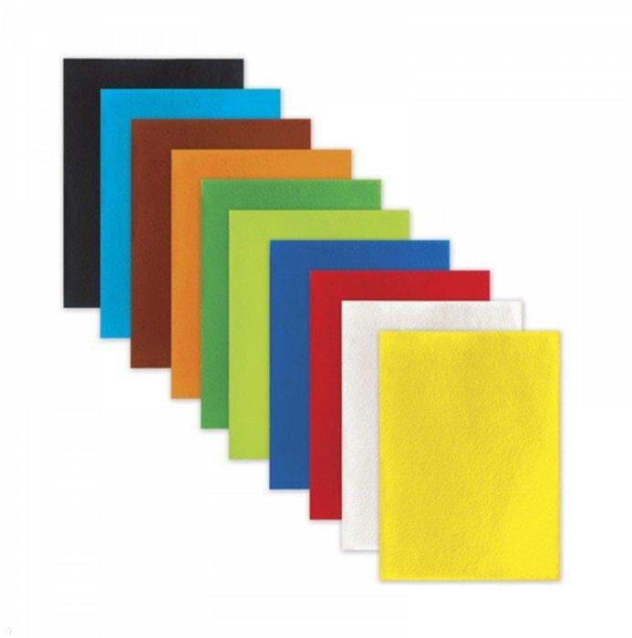Иллюстрация 1 из 24 для Фетр цветной для творчества (А4, 10 листов, 10 цветов) (660088) | Лабиринт - игрушки. Источник: Лабиринт