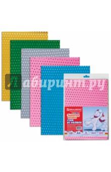 Цветная пористая резина для творчества с узором из фольги (5 листов, 5 цветов) (660086)
