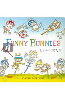 Funny Bunnies: Up and Down (board book) david booth display advertising an hour a day