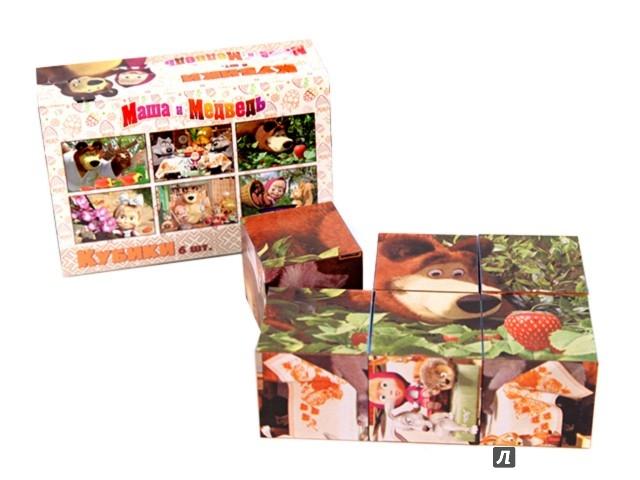 Иллюстрация 1 из 5 для Кубики  Маша и ее друзья (6 штук, пластик) (8118GT) | Лабиринт - игрушки. Источник: Лабиринт