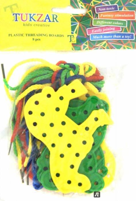 Иллюстрация 1 из 8 для Набор шнуровок Животные (8 штук) (TZ 15326) | Лабиринт - игрушки. Источник: Лабиринт