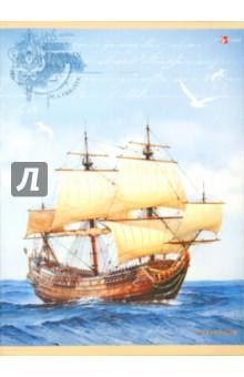 """Тетрадь для конспектов """"Морской парусник"""", 96 листов, клетка, А4 (ТФЛ49641)"""
