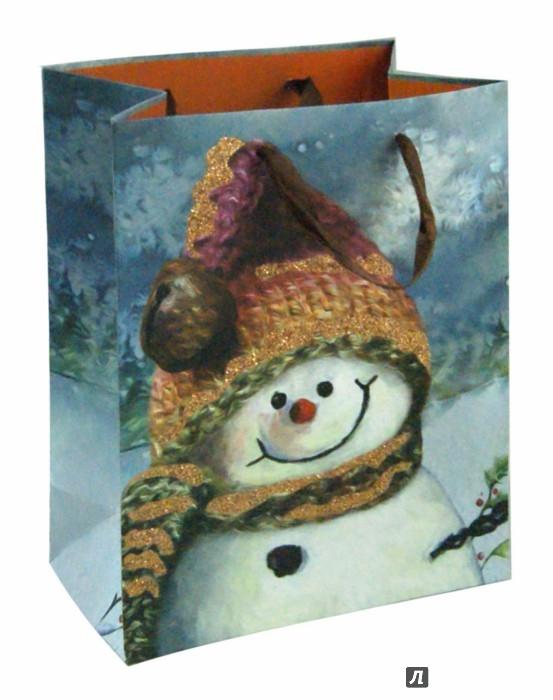 Иллюстрация 1 из 2 для Пакет новогодний ламинированный (180х227х100 мм) (МС 014) | Лабиринт - сувениры. Источник: Лабиринт