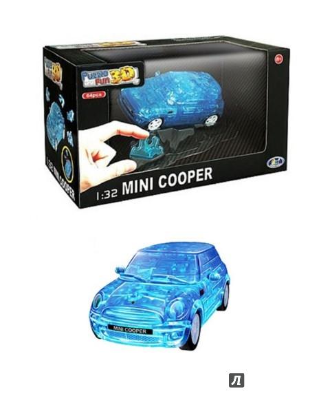 Иллюстрация 1 из 2 для 3D модель-пазл Mini Cooper полупрозрачный синий (57073) | Лабиринт - игрушки. Источник: Лабиринт