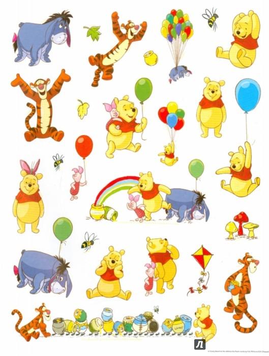 """Иллюстрация 1 из 17 для 100 наклеек """"Disney. Медвежонок Винни""""   Лабиринт - книги. Источник: Лабиринт"""