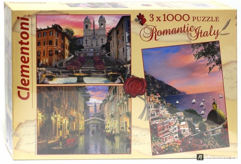 Иллюстрация 1 из 5 для Пазл Набор 3х1000 Италия (08005)   Лабиринт - игрушки. Источник: Лабиринт