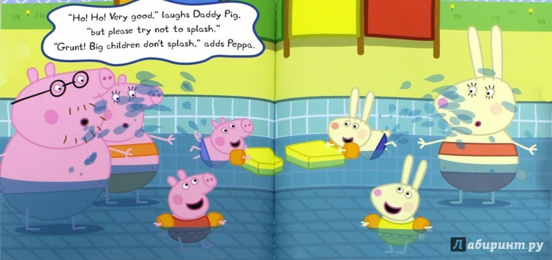 Иллюстрация 1 из 8 для Peppa Goes Swimming | Лабиринт - книги. Источник: Лабиринт