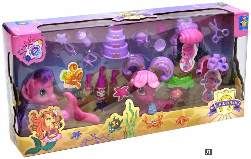 Иллюстрация 1 из 13 для Набор из 2 пони-русалочек с аксессуарами (Т56607) | Лабиринт - игрушки. Источник: Лабиринт