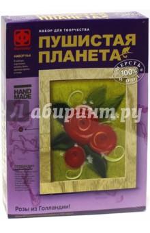 Пушистая планета №6 Розы из Голландии (967036) флок ткань где в спб