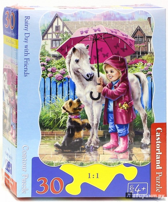 """Иллюстрация 1 из 16 для Puzzle-30 MIDI """"Дождливый день с друзьями"""" (В-03426)   Лабиринт - игрушки. Источник: Лабиринт"""
