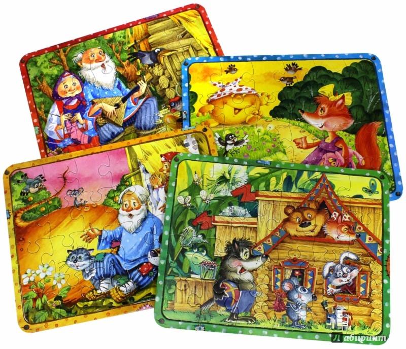 Иллюстрация 1 из 2 для Сказочные пазлы. Чудо-чемоданчик. Красный | Лабиринт - игрушки. Источник: Лабиринт