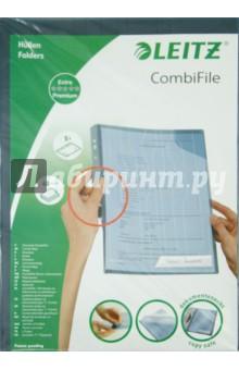 Папка-уголок A4, синяя, 5 шт. (47260035) вкладыш уголок с перфорацией leitz combifile ф а4 5 шт 200 мкм синий 47260035