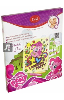 Купить Роспись по холсту и украшение глиттером My Little Pony. Пинки Пай (54119), D&M, Роспись по ткани