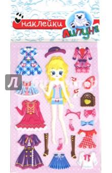 Зефирные наклейки Одевайка 3 (MMS028) наклейки детские одевайка mms015