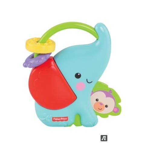 """Иллюстрация 1 из 2 для Погремушка  """"Веселые друзья слоненок и обезьянка"""" (6578Y)   Лабиринт - игрушки. Источник: Лабиринт"""
