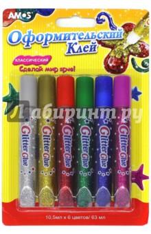 Купить Клей оформительский. 6 цветов Классический (22922), AMOS, Сопутствующие товары для детского творчества