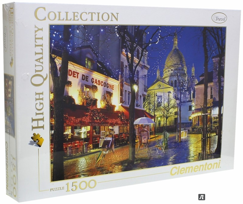 "Иллюстрация 1 из 5 для Пазл-1500 ""Париж, Монмартр"" (31999) | Лабиринт - игрушки. Источник: Лабиринт"