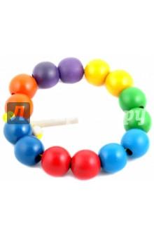 Бусы: Радуга, шары цветные, 14 штук (Д-537)