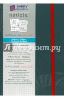 Блокнот Notizio. Твердая обложка. Серый. 80 листов, А5 блокнот серия natural формат а5 140 стр темно бордовый в клетку