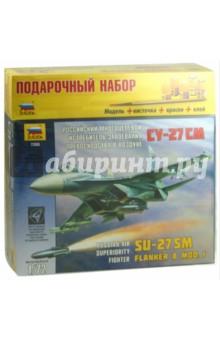 Купить Российский многоцелевой истребитель Су-27 СМ (7295П), Звезда, Пластиковые модели: Авиатехника (1:72)
