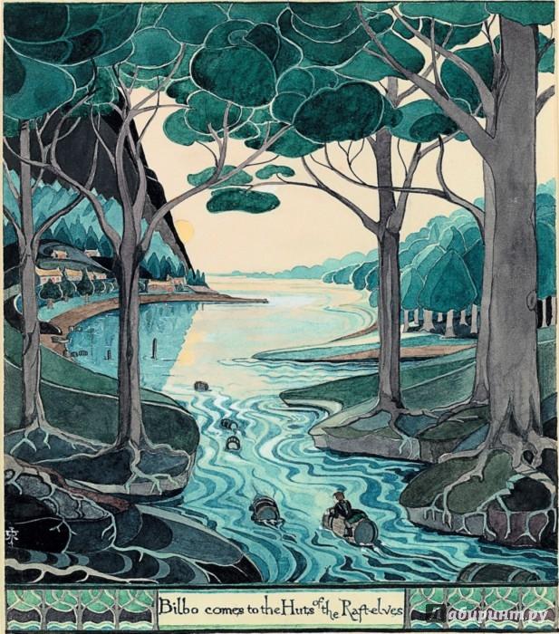 Иллюстрация 1 из 59 для Хоббит - Толкин Джон Рональд Руэл | Лабиринт - книги. Источник: Лабиринт