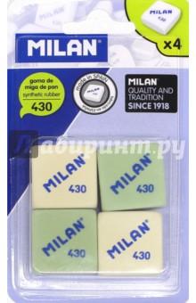 Набор ластиков 430 (4 штуки) (BMM9215) канцелярия milan набор ластиков 236 color 936 и 430 5 шт