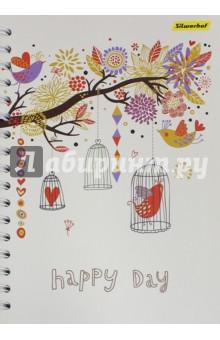 """Тетрадь общая с разделителями """"Счастливый день"""" (120 листов, клетка) (812008-95)"""