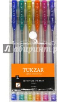 Набор ручек гелевых. Суперметалик с блестками. 6 цветов (TZ 144- 6) tukzar tukzar набор шариковых ручек  10 цветов
