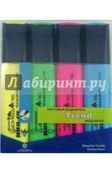"""Набор текстовыделителей """"Trend"""" (4 цвета) (103002-30) Silwerhof"""