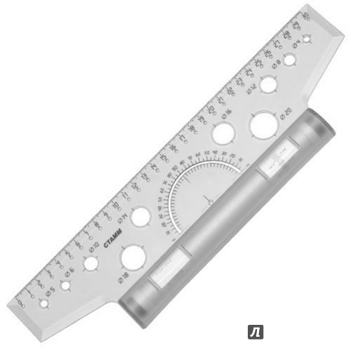 Иллюстрация 1 из 2 для Линейка-рейсшина (30 см, пластиковый ролик) (ЛР20) | Лабиринт - канцтовы. Источник: Лабиринт