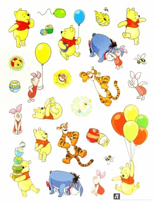 Иллюстрация 1 из 4 для Disney. 100 наклеек. Медвежонок Винни | Лабиринт - книги. Источник: Лабиринт