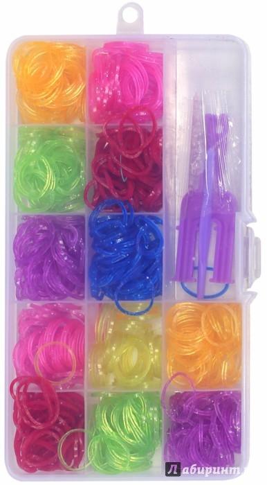 Иллюстрация 1 из 16 для Набор цветных резиночек (600 штук) (TZ 12848)   Лабиринт - игрушки. Источник: Лабиринт