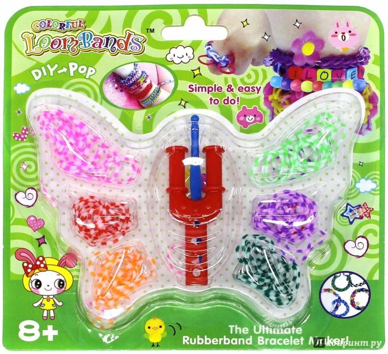Иллюстрация 1 из 8 для Набор цветных резиночек Бабочка (180 шт) (TZ 12856) | Лабиринт - игрушки. Источник: Лабиринт