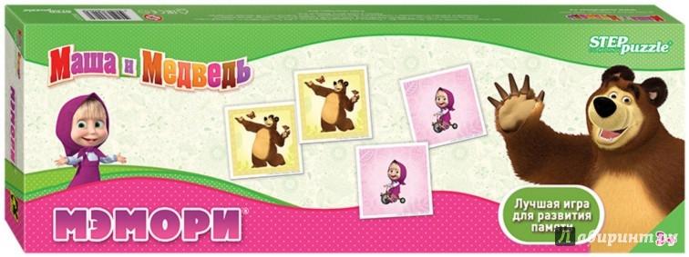 """Иллюстрация 1 из 4 для Настольная игра Мэмори """"Маша и Медведь"""" (80207)   Лабиринт - игрушки. Источник: Лабиринт"""