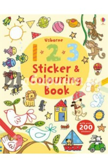 123 Sticker and Colouring Book the usborne fantastic colouring and sticker book