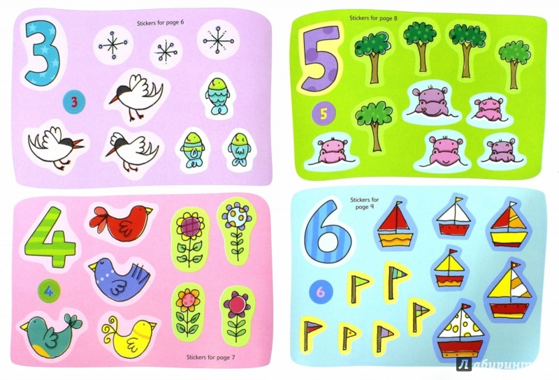 Иллюстрация 1 из 4 для 123 Sticker and Colouring Book | Лабиринт - книги. Источник: Лабиринт
