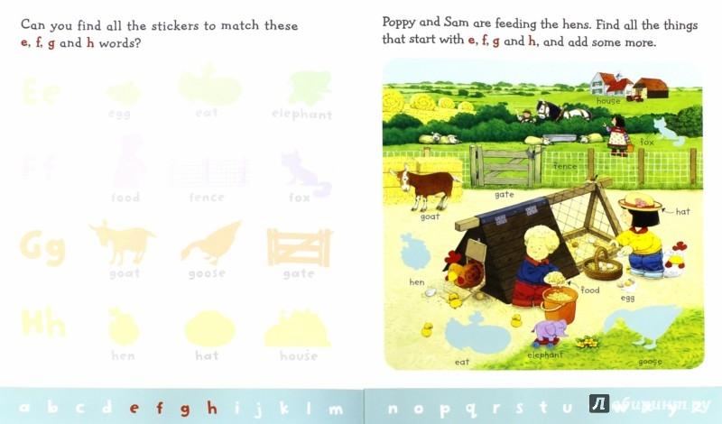 Иллюстрация 1 из 16 для ABC Sticker Book - Jessica Greenwell | Лабиринт - книги. Источник: Лабиринт
