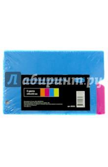 Пластиковые разделители для тетрадей со сменным блоком (8 штук, 4 цвета) (85501)