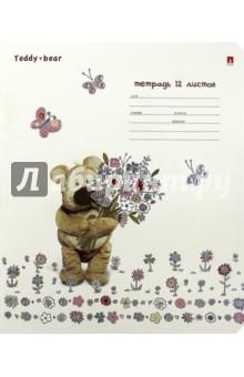 """Тетрадь школьная """"Мишка Тедди"""" (12 листов, клетка, в ассортименте) (7-12-1000/1)"""