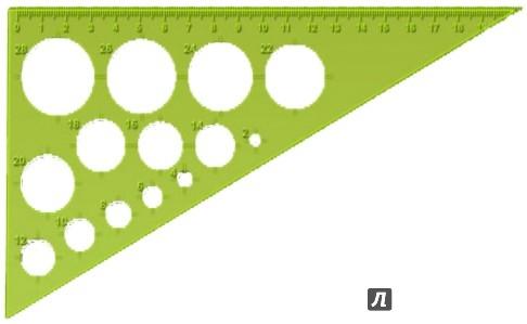 Иллюстрация 1 из 5 для Треугольник NEON Cristal (19 см, ассортимент) (ТК110) | Лабиринт - канцтовы. Источник: Лабиринт