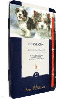 Карандаши цветные Easycolor (12 цветов, трехгранные) (30-0030) карандаши набор 12 цветов angry birds movie грифель 2 65 мм размер карандаша 17 8 х o 0 7 см