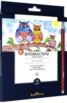 "Фломастеры ""Multicolor Easy Pack"" (18 цветов, трехгранные) (32-0020) Bruno Visconti"
