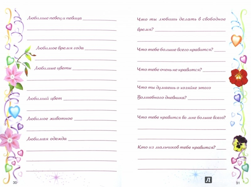 картинки девочки для личного дневника
