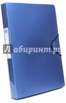 Папка-бокс с резинкой, синий металлик (85567)