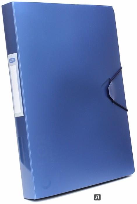 Иллюстрация 1 из 10 для Папка-бокс с резинкой, синий металлик (85567)   Лабиринт - канцтовы. Источник: Лабиринт