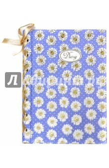 феникс ежедневник с лентой цветочный принт а6 Ежедневник с декоративной лентой. А6+. 240 страниц. Ромашки (37492-20)