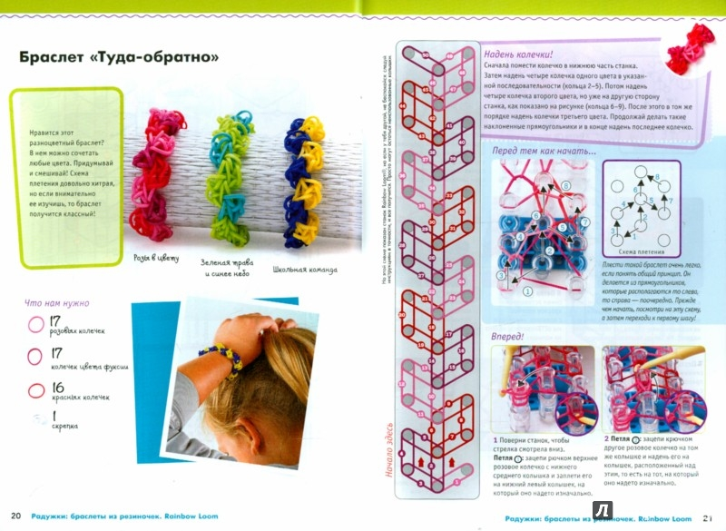 Иллюстрация 1 из 25 для Радужки. Браслеты из резиночек. Rainbow Loom - Колин Дорси | Лабиринт - книги. Источник: Лабиринт