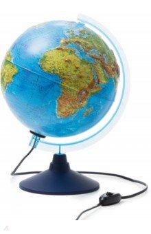 Глобус Земли физико-политический рельефный с подсветкой (d=250 мм) (Ке022500195)